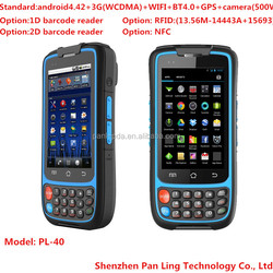 PL40 AD018 barcode label scanner rfid tablet pc with android os,3g and wifi