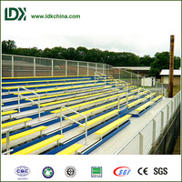Wholesale durable steel bench matal structure 10 rows elevated bleacher