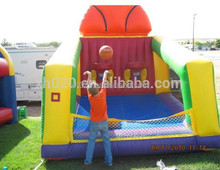 Commercial inflatable kids promotional basketball hoop court equipment