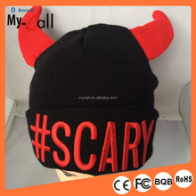 Latest 2015 Creative cow horn hat with LED light in horn for Halloween parties and Christmas