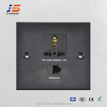 CE Approved !!! Network+Power Aluminum face plates(JS-WP125 )