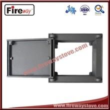 Fashion design cast iron wood stove door