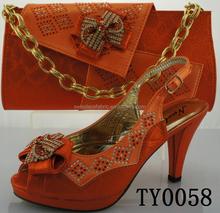 italian fashion wholesale shoe and bag set for women / matching italian shoe and bag sets