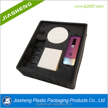 10 years manufacture PS/PVC brown luxury Flocking blister tray for cosmetics,/oundation cream/lipstick