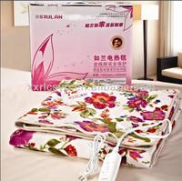 2014 Thermal Blanket Fleece Electric Blanket Twin Size Heating Pad Dual Control 220V CE
