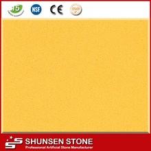Faux quartz pierre jaune pierre dalle pour plateaux de table CK2803