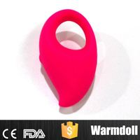 Rose Red Color Sex Toys Male Masturbator Sex Vibrator In Silicone Material With 5 Intense Patterns