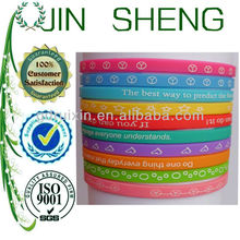 6mm thin silicone wristbands for girls as promotional gifts