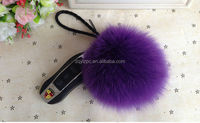 2015 For Bag Accessories Keychain /Fox Fur Ball Keychain/Plush Keychain