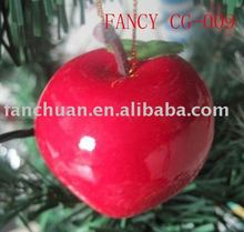 fashion big apple christmas tree hanging ornament
