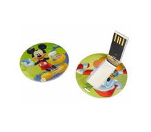 Cute customed usb pen, round shape swivel usb flash drives, full capacity usb key hot new for 2015.