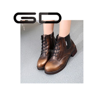 2015 ankle boots bright color shoes for women lace up wood bottom boots