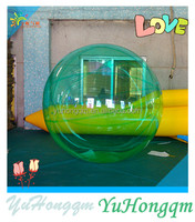 china cheap colored green transparent inflatable floating water rolling balls inflatable bubble balls for water pool for sale