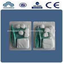 kit médico curativo( cirúrgica) para tratamento de feridas, operação e othger uso médico, steriled por eto, com ce e iso13485