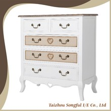 French countryside style wooden cupboard designs of bedroom, wooden sideboard, chest of drawers