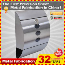 modern stainless steel letterbox/postbox/mailbox with custom service