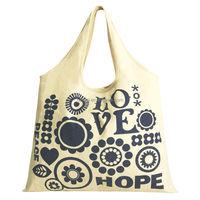 logo printed natural canvas cloth bag