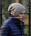 largo de lana de punto de acrílico gorros de invierno de los hombres de gorros
