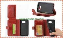 Wallet Flip Leather Case With Money Pocket Stand Case For Samusng s6