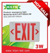 Energy saving Fire safety UL Listed LED 3W Emergency Exit Sign Light