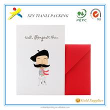 Nuovi prodotti 2015 cartolina, biglietto di auguri, messaggio di carta con busta per il festival