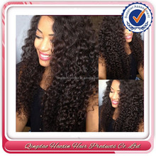 Hot-selling small size long kinky curly brazilian hair full lace wig with baby hair