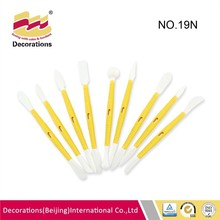 9 pcs Good quality hard cake decorating pen for flower toy curving popular decoration tools