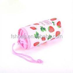 Cartoon pattern pink bottle cooler bag for kids