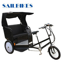 CE certificate electric tricycle rickshaw for passengers