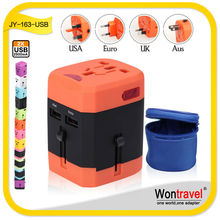 Wontravel Factory Supply Commonly Used Accessories OEM Ac Dc Universal Travel Charger with 2.5A usb output