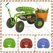 swivel garden scotter with four wheel