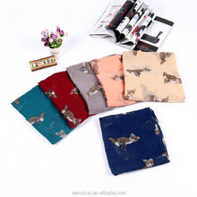 2015 New Fashion Spring lovely Cute Animial Print Fox Scarves