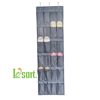 Wholesales Over the door Hanging Organizer for shoe, accessory organizer, light grey