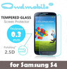 QWD phone protector !9H Tempered glass screen protector for Samsung S4 0.3mm round edge