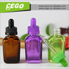 Beauty colors amber purple green fancy square galss dropper bottle with child resistant cap for e liquid oil bottle