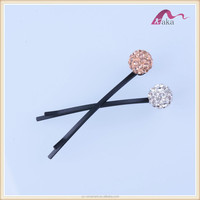 Fashion brief style colorful decorative crystal ball with crystal Hair accessories/hair clips