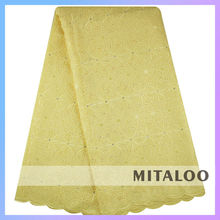 Mitaloo MSL0339 2015 Wholesale Price Charming Lace Fabric Swiss Voile Lace African Lace
