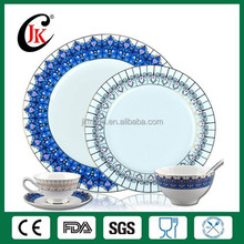 Dubai gold plated ceramic dinnerware sets for hotel use