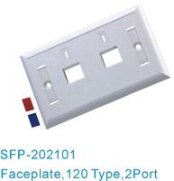 120 Type Network 2 Port RJ45 Coupler Wall Plate Surlink