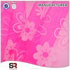 Polyester Flocking Organza Fabric for Dress and Decoration