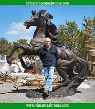 High quality bronze life size horse statue for sale, only $12,000