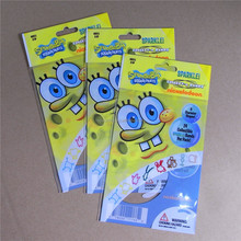 popular sponge bob opp bands bag with header