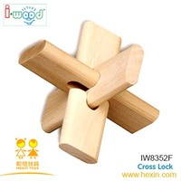 Cross Lock ( wooden games,wooden gifts,educational toys )