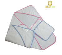 Cotton Terry cloth Hooded towel Cheap newborn baby clothing set