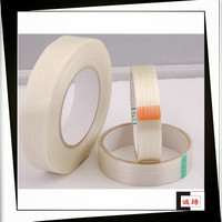 Flame Resistance Clear Self Adhesive Glass Fiber Tape For Coil Bind
