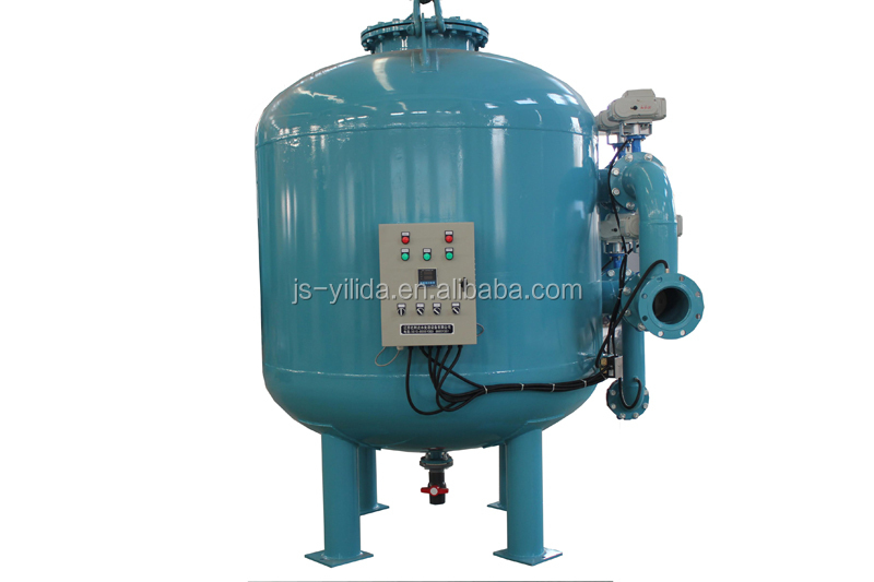 Automatic timer backwash multimedia sand and carbon filter