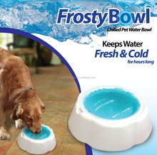 Frosty Bowl , Chilled pet water bowl , Pet bowl