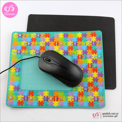 China manufacturer custom high quality cheap pp mouse pad