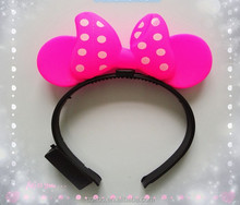 Festival Items Multicolor fashion Led Hair Band Accessories,hair band extensions,Latest Hot Sale Led Bow Hair Band Light