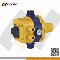 2015 Zhejiang Monro restart all black with socket box electronic pressure switch for manual water pump(EPC-5.1)